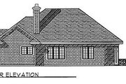 Traditional Style House Plan - 3 Beds 2 Baths 1912 Sq/Ft Plan #70-275 Exterior - Rear Elevation
