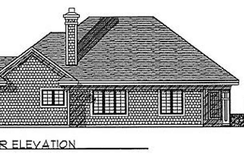 Traditional Exterior - Rear Elevation Plan #70-275 - Houseplans.com