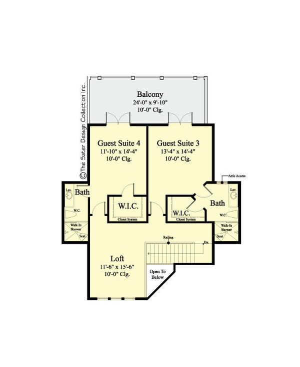 Country Floor Plan - Upper Floor Plan Plan #930-469