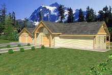Dream House Plan - Southern Exterior - Other Elevation Plan #117-565