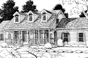 Southern Style House Plan - 4 Beds 2.5 Baths 2454 Sq/Ft Plan #3-207 Exterior - Other Elevation