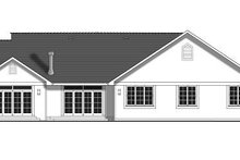 House Blueprint - Country Exterior - Rear Elevation Plan #427-8