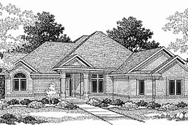 Traditional Exterior - Front Elevation Plan #70-279