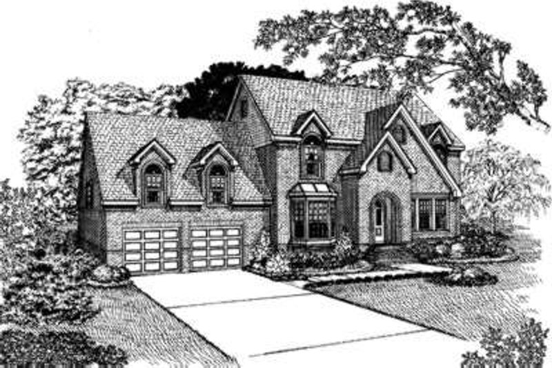 European Exterior - Front Elevation Plan #410-188