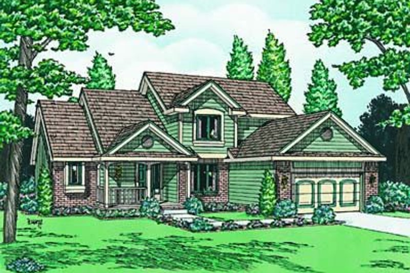 Traditional Exterior - Front Elevation Plan #20-663 - Houseplans.com