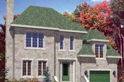European Style House Plan - 3 Beds 1.5 Baths 1204 Sq/Ft Plan #138-296 Exterior - Front Elevation