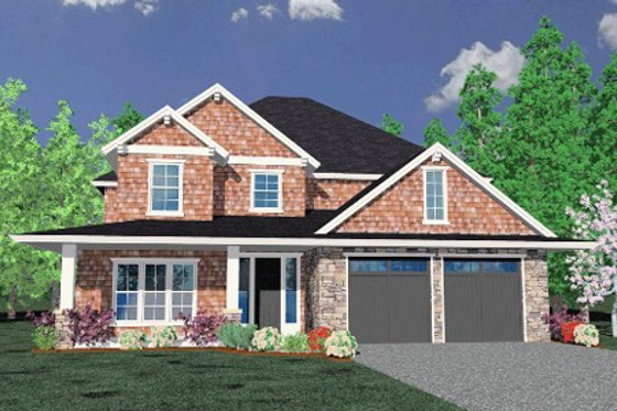 Country Exterior - Front Elevation Plan #509-7
