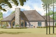European Style House Plan - 3 Beds 2.5 Baths 2428 Sq/Ft Plan #923-14 Exterior - Rear Elevation