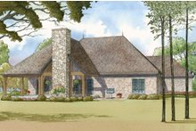 House Plan Design - European Exterior - Rear Elevation Plan #923-14