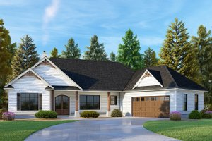 Dream House Plan - Craftsman Exterior - Front Elevation Plan #437-101