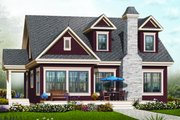 Country Style House Plan - 3 Beds 2 Baths 1976 Sq/Ft Plan #23-2241 Exterior - Front Elevation