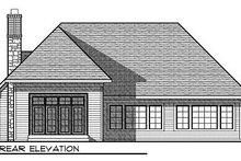 Home Plan - European Exterior - Rear Elevation Plan #70-867