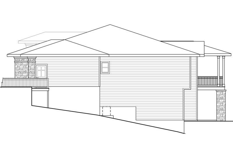 Prairie Exterior - Other Elevation Plan #124-924 - Houseplans.com