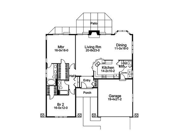 Mediterranean Floor Plan - Main Floor Plan Plan #57-679