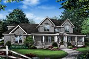 Farmhouse Style House Plan - 4 Beds 3.5 Baths 3626 Sq/Ft Plan #929-1000 Exterior - Front Elevation