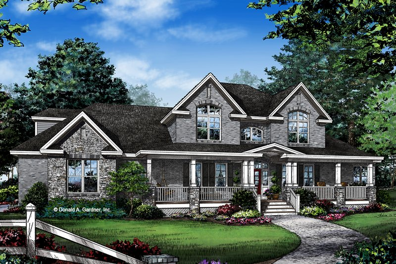 Farmhouse Exterior - Front Elevation Plan #929-1000
