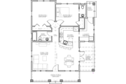 Craftsman Style House Plan - 2 Beds 1.5 Baths 1044 Sq/Ft Plan #485-3 Floor Plan - Main Floor Plan
