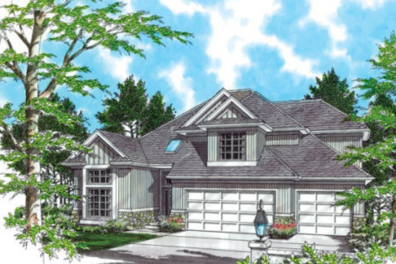 Traditional Exterior - Front Elevation Plan #48-322 - Houseplans.com