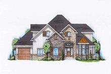 House Plan Design - European Exterior - Front Elevation Plan #5-391
