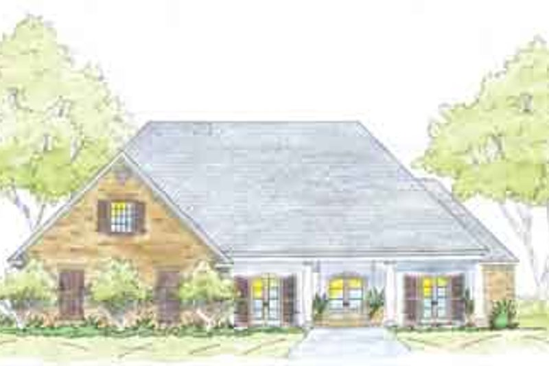Traditional Exterior - Front Elevation Plan #36-450 - Houseplans.com
