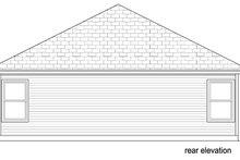 Cottage Exterior - Rear Elevation Plan #84-543