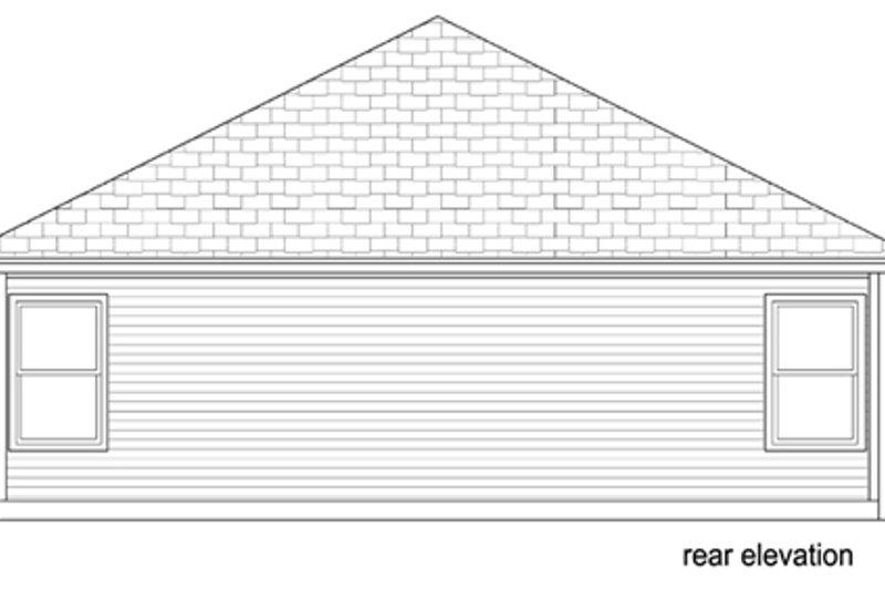 Cottage Exterior - Rear Elevation Plan #84-543 - Houseplans.com