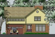 Country Style House Plan - 3 Beds 3.5 Baths 2700 Sq/Ft Plan #481-6 Exterior - Other Elevation