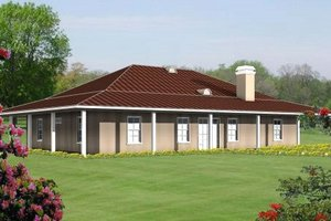 Country Exterior - Front Elevation Plan #1-525