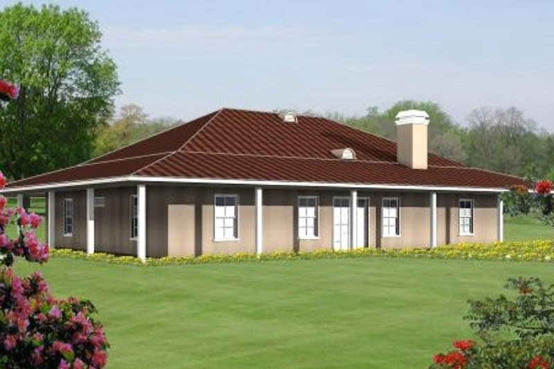 Country Style House Plan - 3 Beds 3 Baths 2312 Sq/Ft Plan #1-525 Exterior - Front Elevation