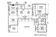 European Style House Plan - 5 Beds 5 Baths 5159 Sq/Ft Plan #449-22 Floor Plan - Main Floor