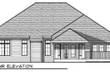 House Plan Design - Traditional Exterior - Rear Elevation Plan #70-834