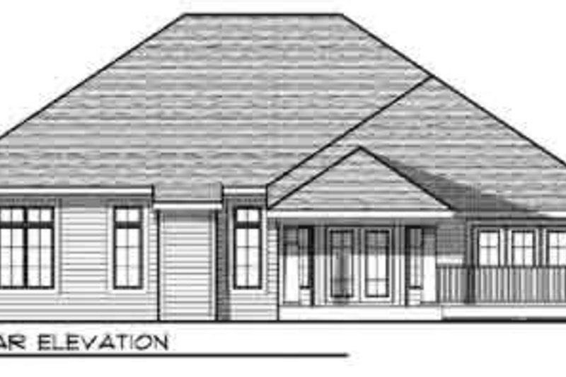 Traditional Exterior - Rear Elevation Plan #70-834 - Houseplans.com