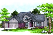 Traditional Style House Plan - 4 Beds 2.5 Baths 2024 Sq/Ft Plan #70-284 Exterior - Front Elevation