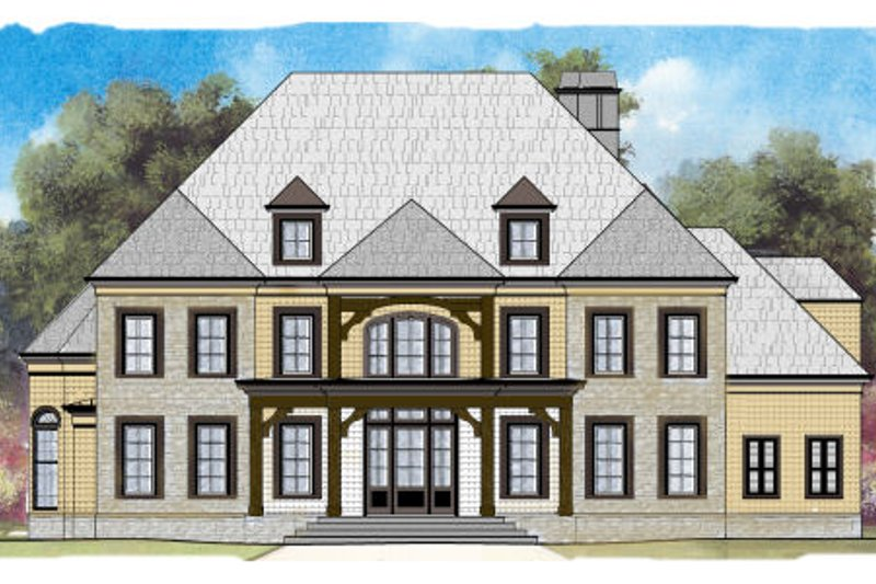 European Exterior - Front Elevation Plan #119-357