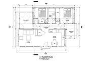 Modern Style House Plan - 2 Beds 1 Baths 730 Sq/Ft Plan #486-4 Floor Plan - Main Floor Plan