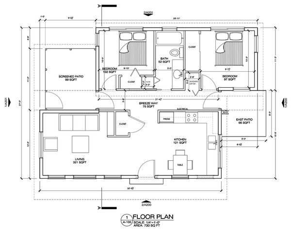 Modern Floor Plan - Main Floor Plan #486-4