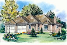Home Plan Design - Traditional Exterior - Front Elevation Plan #18-1013