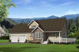 Country Exterior - Front Elevation Plan #932-261