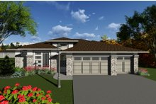Ranch Exterior - Front Elevation Plan #70-1270