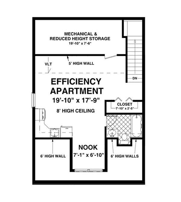 Craftsman Floor Plan - Upper Floor Plan Plan #56-611