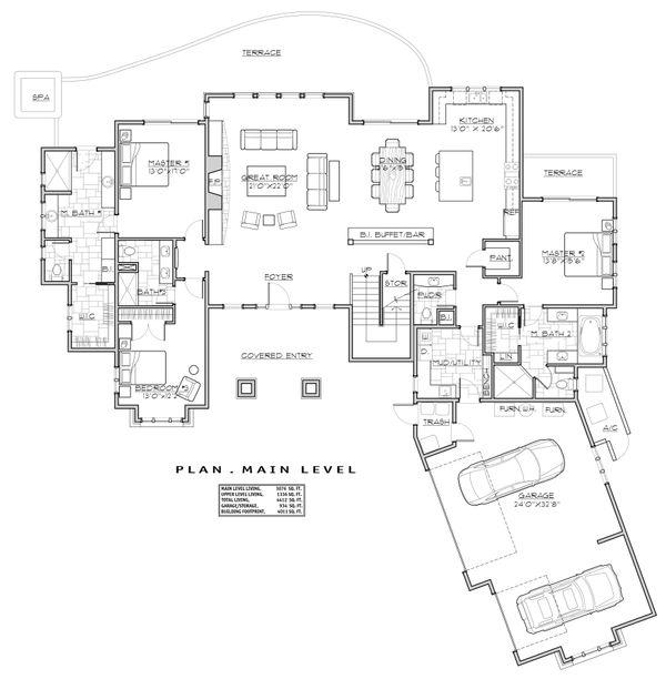 Dream House Plan - Craftsman Floor Plan - Main Floor Plan #892-28