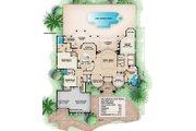 Beach Style House Plan - 3 Beds 3.5 Baths 5191 Sq/Ft Plan #27-521 Floor Plan - Main Floor Plan