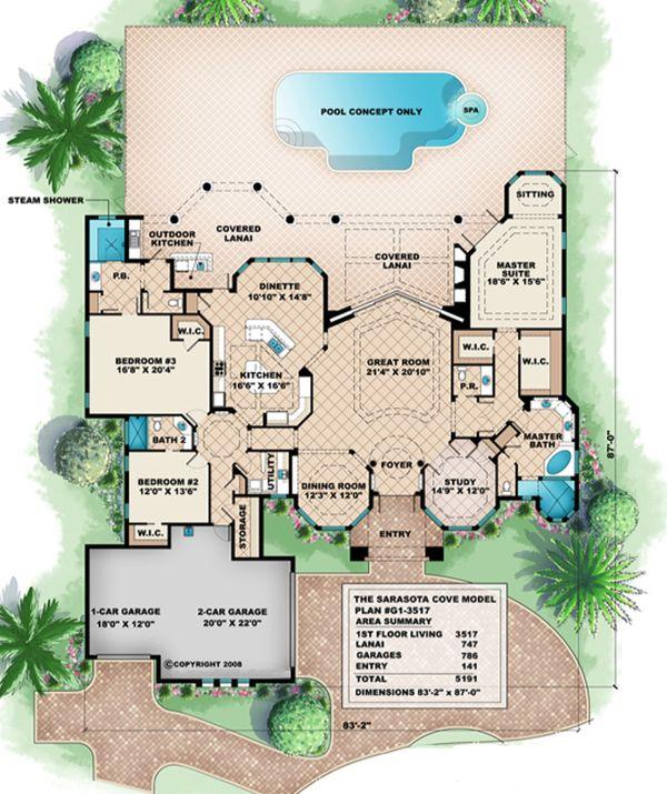 Beach Floor Plan - Main Floor Plan Plan #27-521
