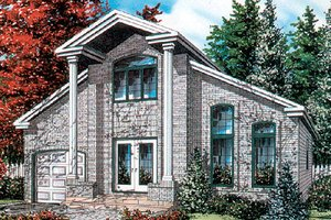 European Exterior - Front Elevation Plan #138-202