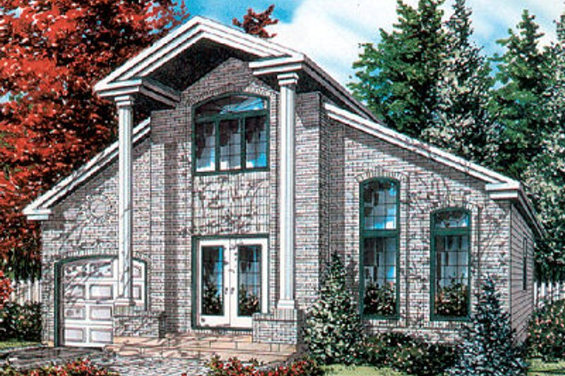 European Style House Plan - 3 Beds 2 Baths 1662 Sq/Ft Plan #138-202