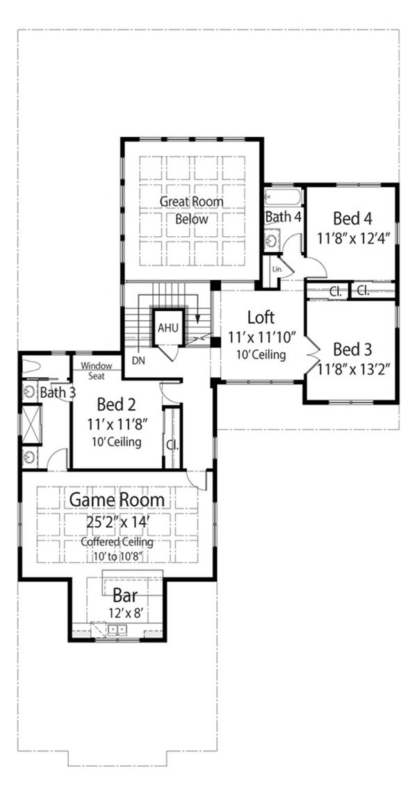 Mediterranean Floor Plan - Upper Floor Plan Plan #938-91