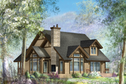 Cabin Style House Plan - 3 Beds 1 Baths 3256 Sq/Ft Plan #25-4737 Exterior - Front Elevation