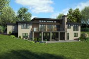 Modern Style House Plan - 4 Beds 4.5 Baths 4317 Sq/Ft Plan #48-926 Exterior - Rear Elevation