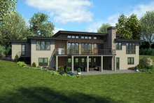 House Plan Design - Modern Exterior - Rear Elevation Plan #48-926
