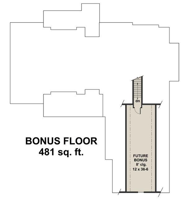 Farmhouse Floor Plan - Upper Floor Plan Plan #51-1138